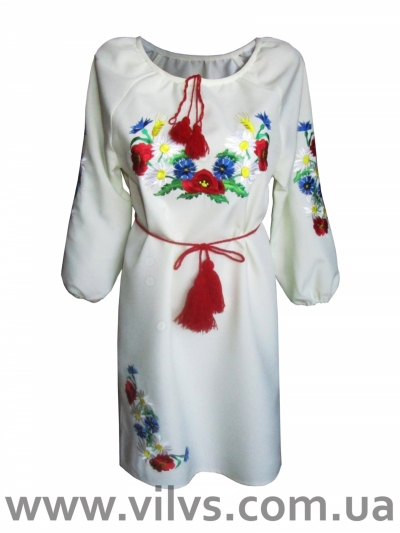 """Сукня вишиванка """"Маки+"""""""
